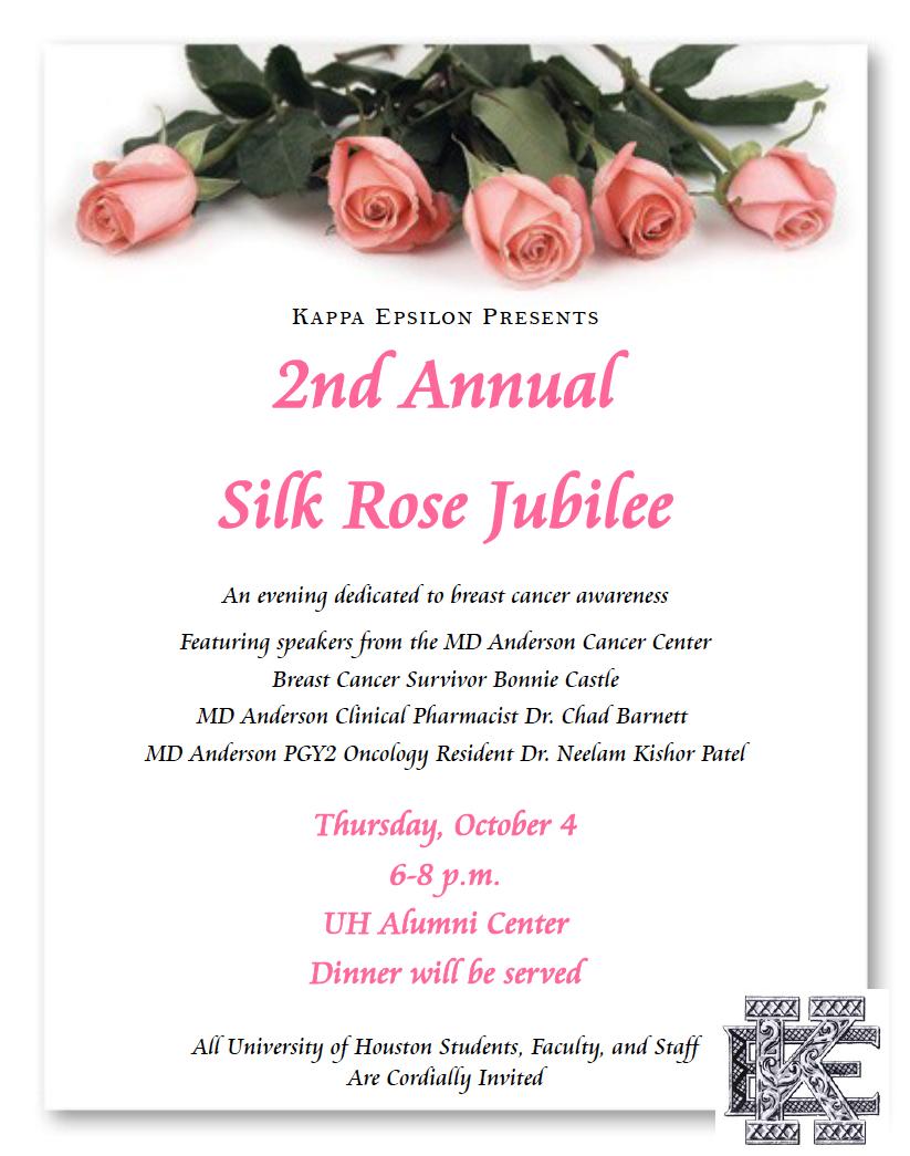 Kappa Epsilon Presents 2nd Annual Silk Rose Jubilee University Of